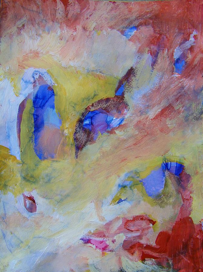 Abstract Painting - No Answers by Judith Redman