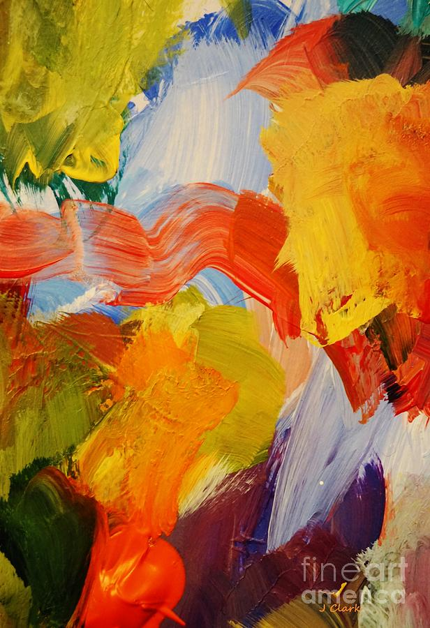 Abstract Painting - No Boundaries by John Clark