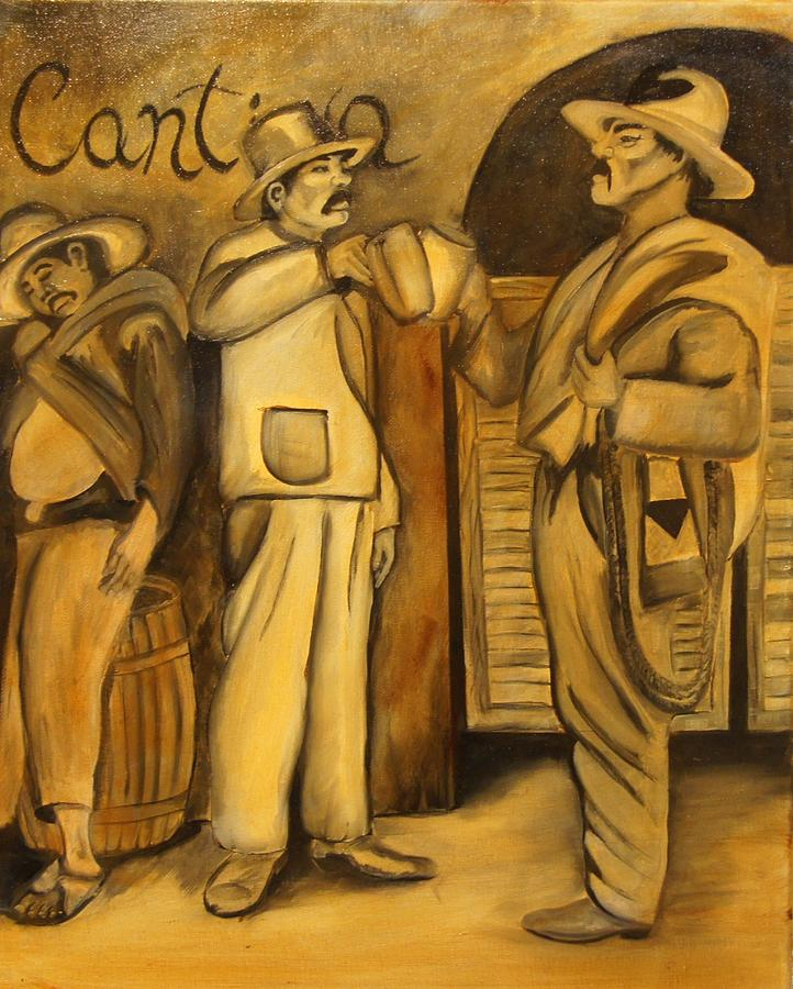 Workers Painting - No Cerveza, No Trabajo by John Stevens