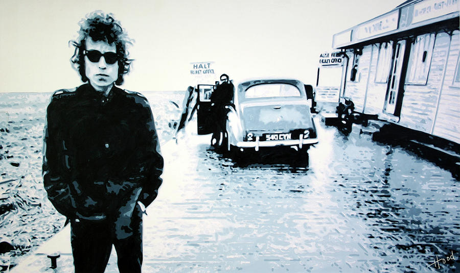 Bob Dylan Painting - No Direction Home by Ludzska Hood