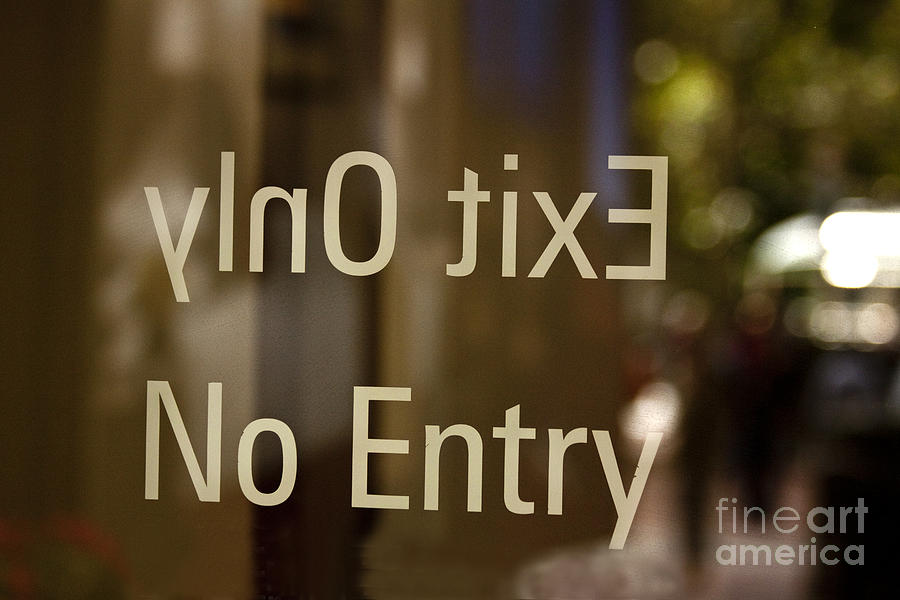 Blur Photograph - No Entry   A World Of Words Series by Mark Hendrickson