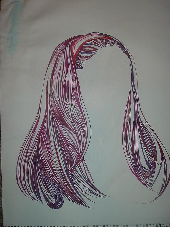 No Expression Drawing by Hannah  Kallman
