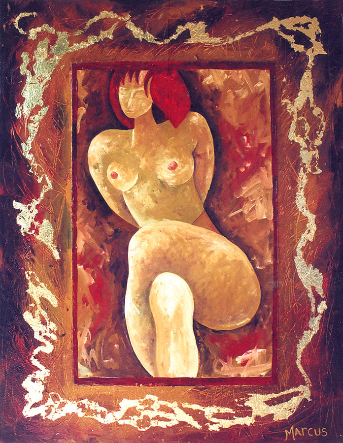 Nude Female Figure Painting - No Fear 2 by Leslie Marcus