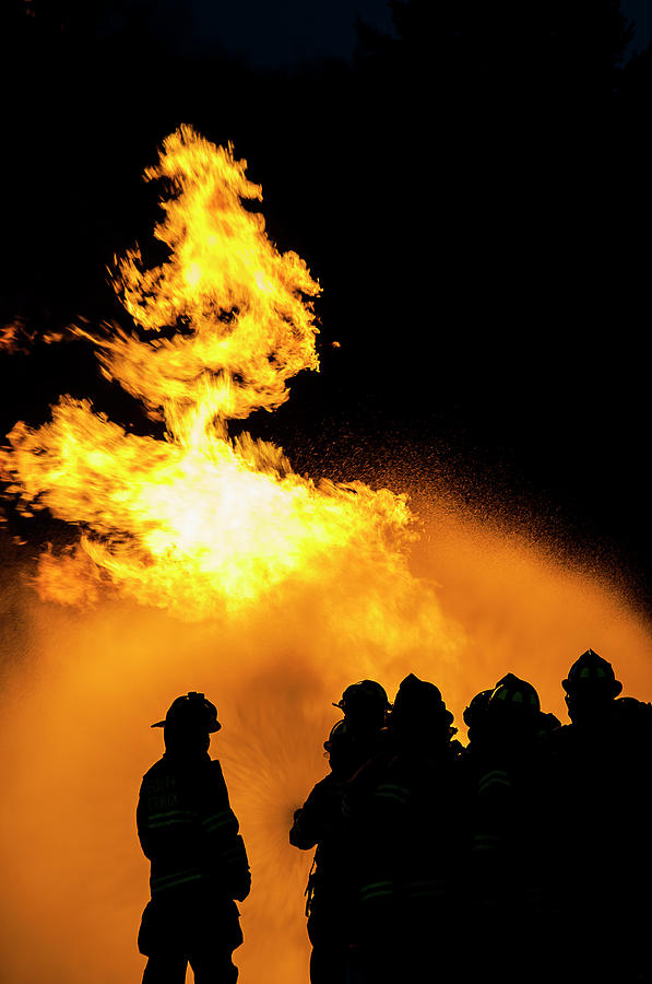 Fire Photograph - No Fear by Erin Thomas