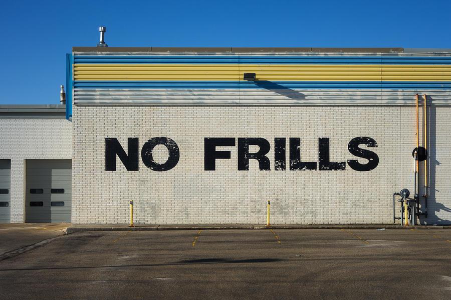 Architecture Photograph - No Frlls by Bryan Scott