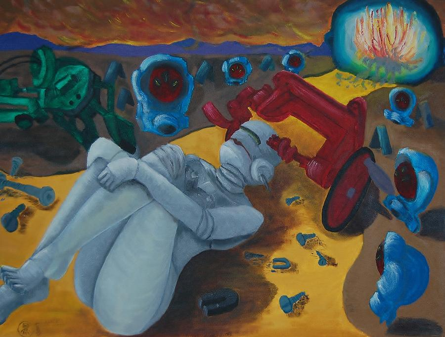 Girl Painting - No Girls Allowed by Charla Van Vlack