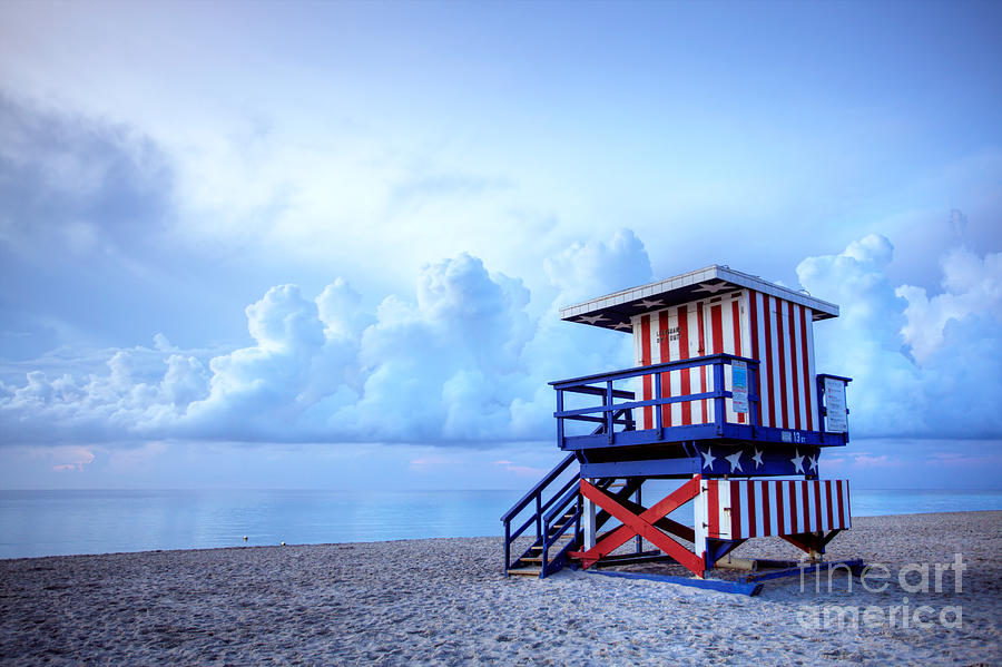 Miami Photograph - No Lifeguard On Duty by Martin Williams