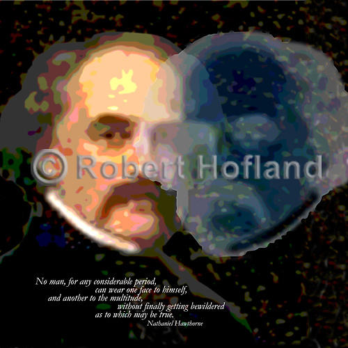 Quotes Digital Art - No Man Can Wear One Face by Robert Hofland
