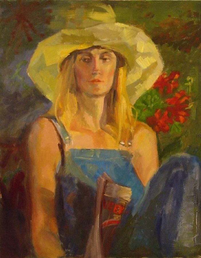 Girl Painting - No News by Irena  Jablonski