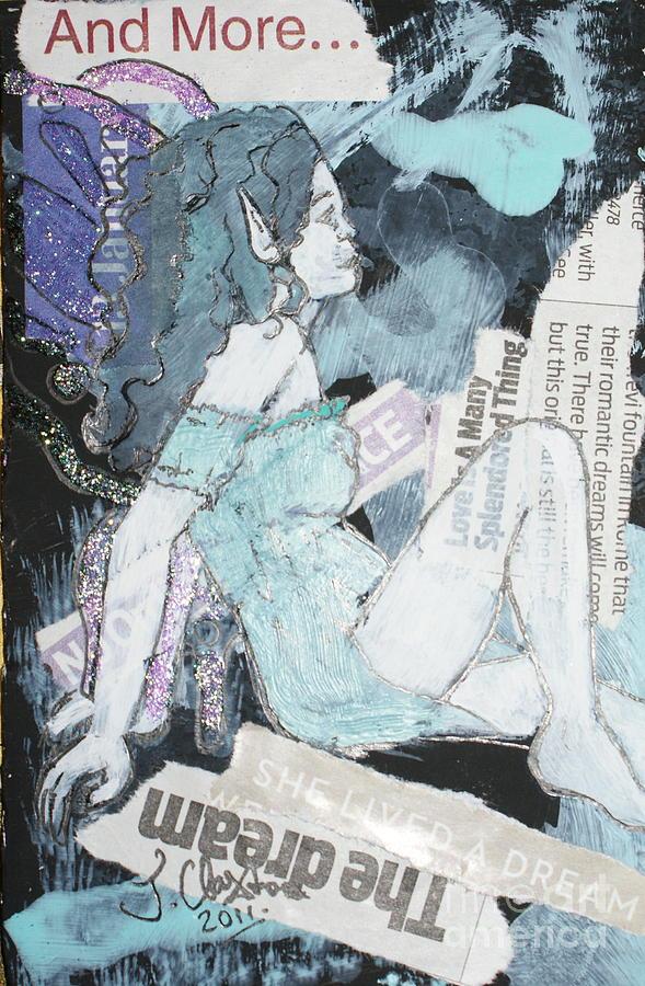 Fairy Mixed Media - No Ordinary Choice by Joanne Claxton