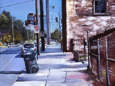 Cityscape Painting - No Parking by Marty Smith