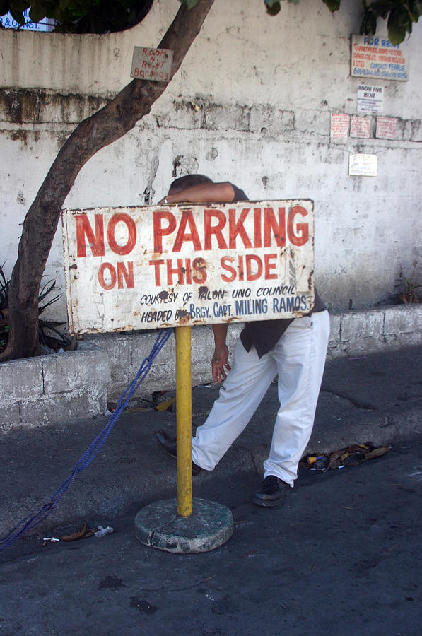 Photographer Photograph - No Parking This Side 2 by Jez C Self