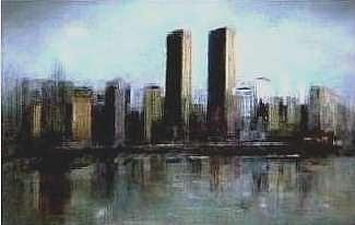 Twin Towers Painting - No Reflections On A Sad Day by Brian Higgins