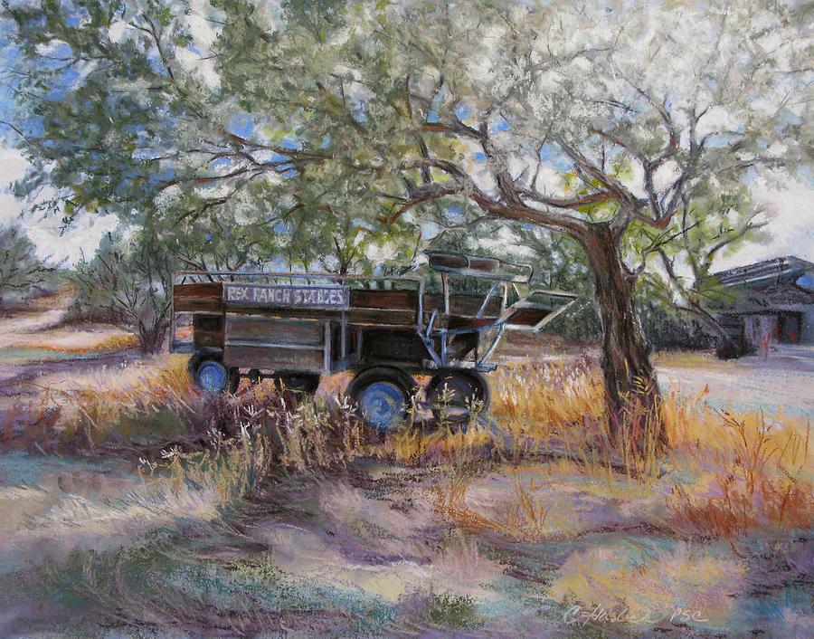 Western Landscape Pastel - No Rides Today by Carole Haslock