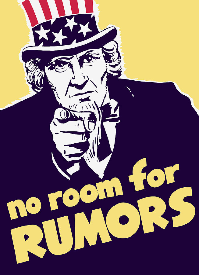 Ww2 Painting - No Room For Rumors - Uncle Sam by War Is Hell Store