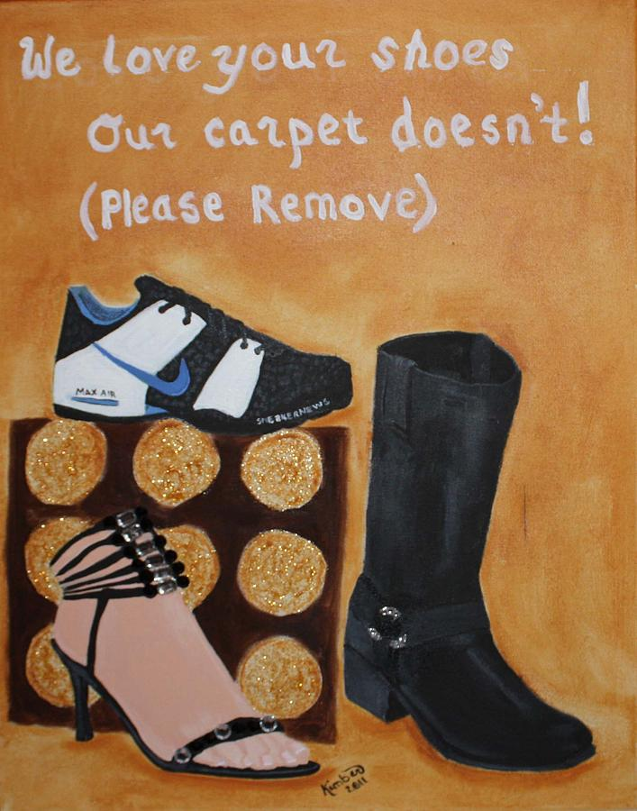 No Shoes Painting - No Shoes by Kimber  Butler