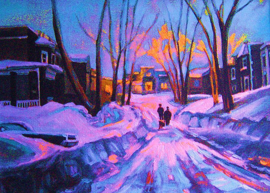 No Sidewalks Painting by Carole Spandau