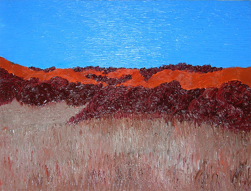 Landscape Painting - No Such Thing As Orange Hills by Todd Mikkelson