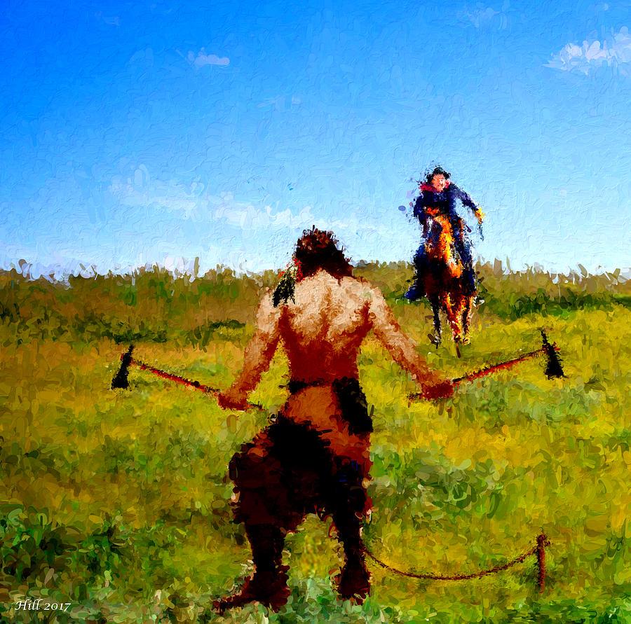 Native American Warrior Digital Art - No Surrender by T D Hill