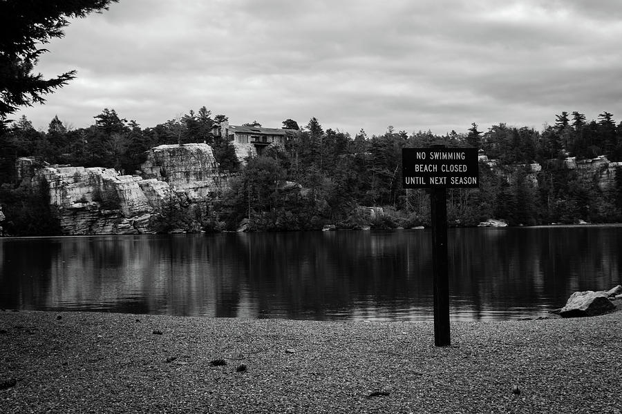Black And White Photograph - No Swimming by Jeff Severson