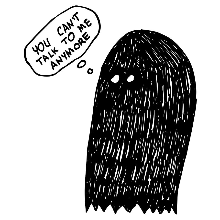 No Talking Ghost Drawing By Karl Addison