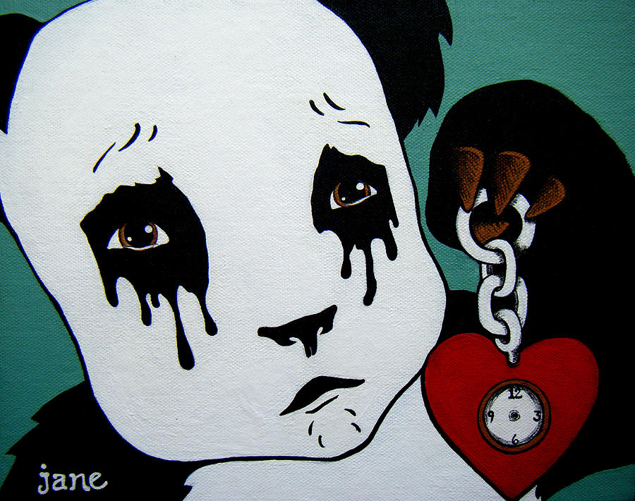 Panda Painting - No Time For Love by Brittany Jane Boyd