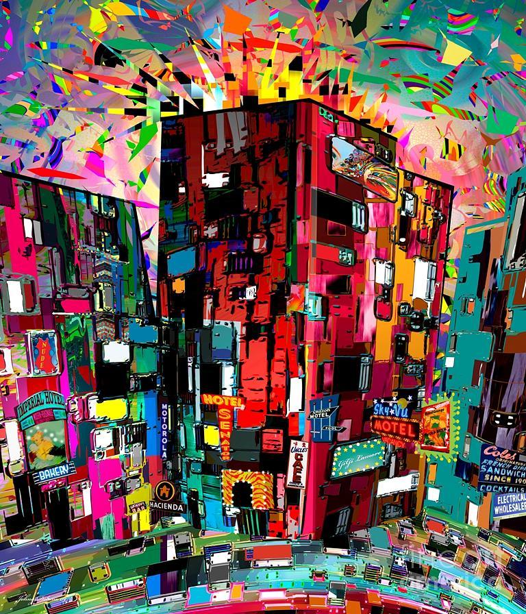 City Mixed Media - No Time To Sleep by Johny Deluna