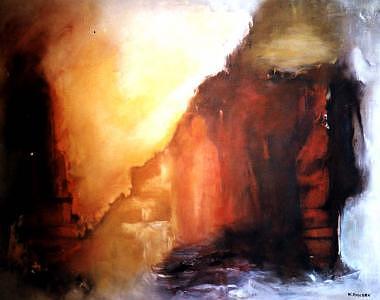 No Title 1 Painting by Walter Kvolbaek