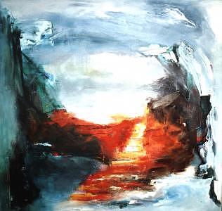 No Title 6 Painting by Walter Kvolbaek