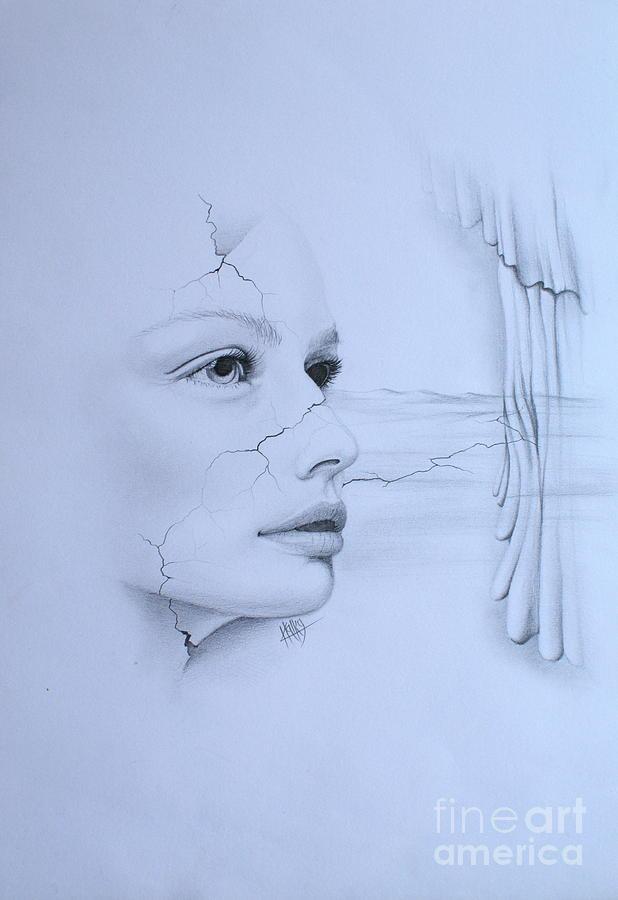 Surrealism Drawing - No Title by Marek Halko