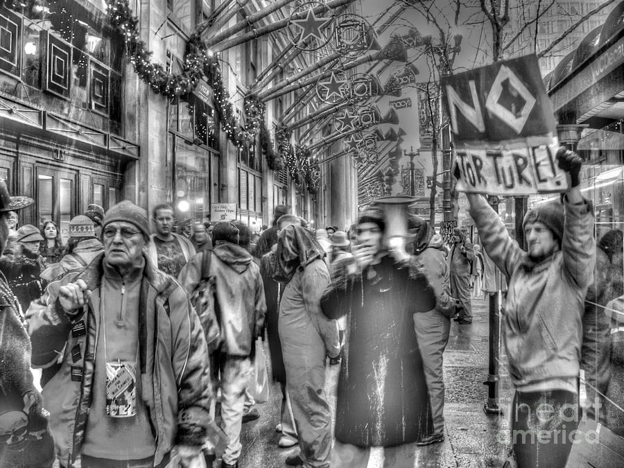 Chicago Illinois Photograph - No Torture by David Bearden
