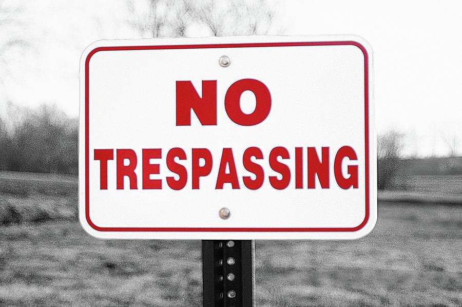 No Trespassing Photograph - No Trespassing by Susan Maxwell Schmidt