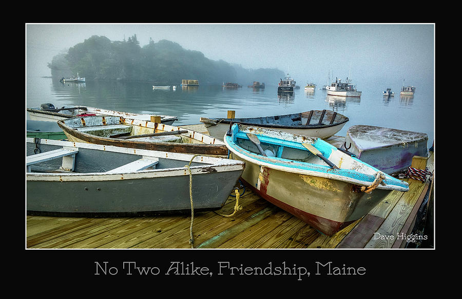 No Two Alike Digital Art - No Two Alike, Friendship, Maine by Dave Higgins