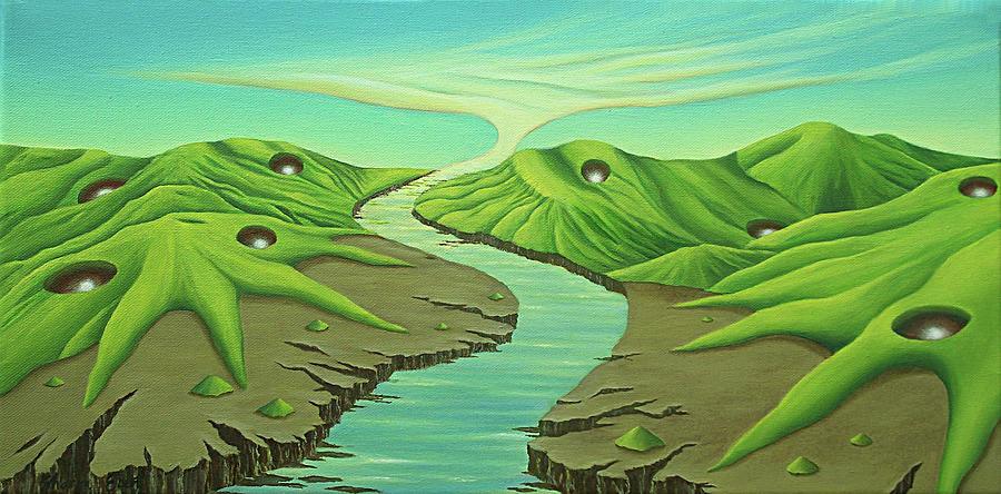 Green Mountains Painting - No Vacancies by Sharon Ebert