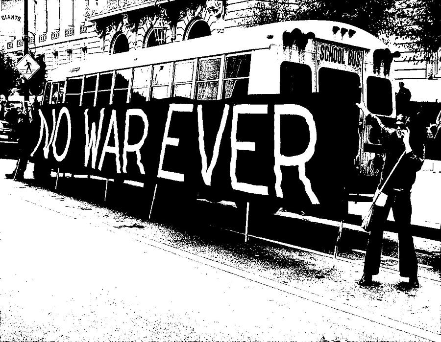 War Photograph - No War Ever by Mark Stevenson