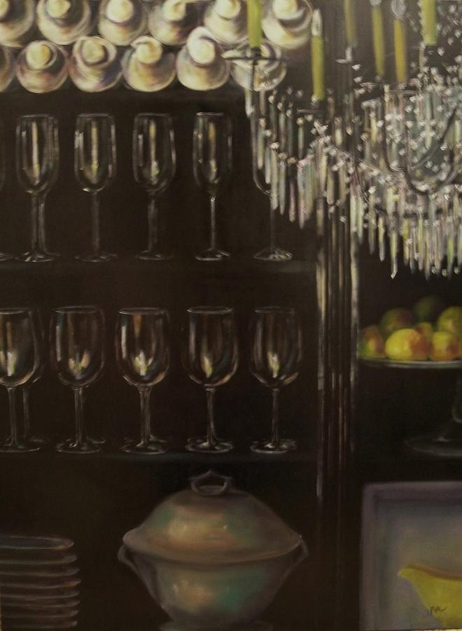 Glass Painting - No Whine Dining by Dana Redfern