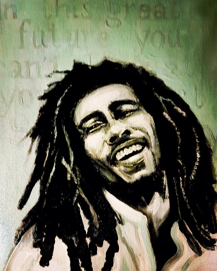 Bob Marley Painting - No Woman, No Cry by Carole Hutchison