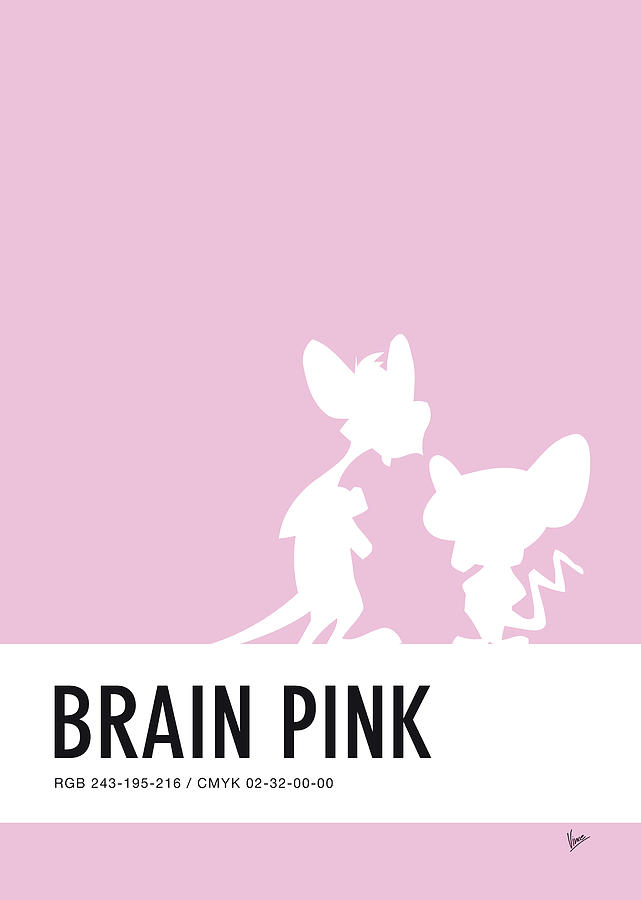 Looney Digital Art - No01 My Minimal Color Code Poster Pinky And The Brain by Chungkong Art