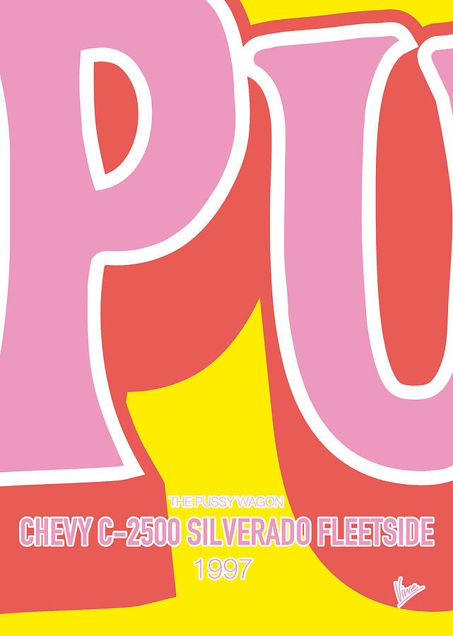 Chevy Digital Art - No013 My Kill Bill Minimal Movie Car Poster by Chungkong Art