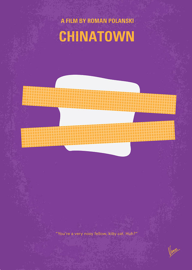 Chinatown Digital Art - No015 My Chinatown Minimal Movie Poster by Chungkong Art