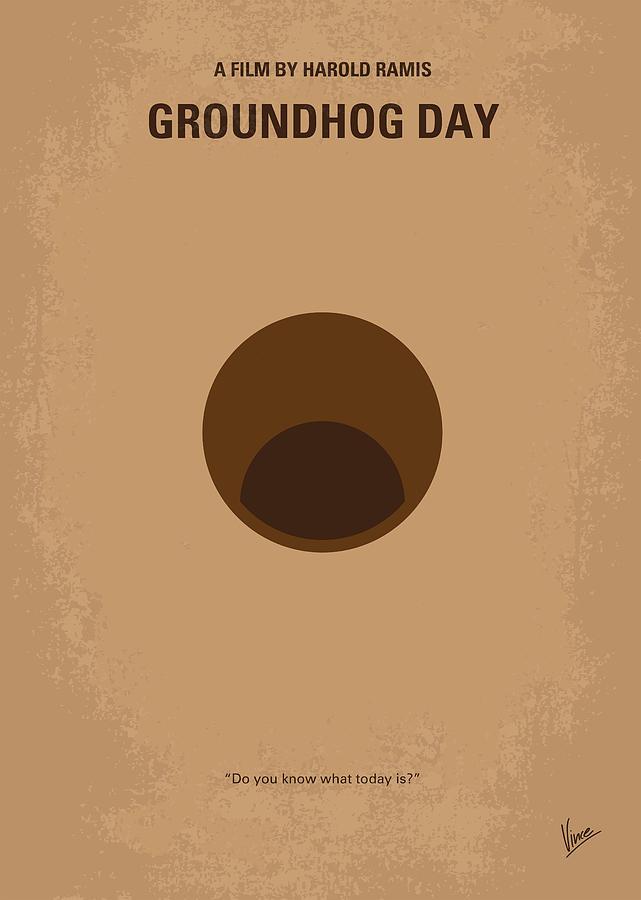 Groundhog Day Digital Art - No031 My Groundhog Minimal Movie Poster by Chungkong Art