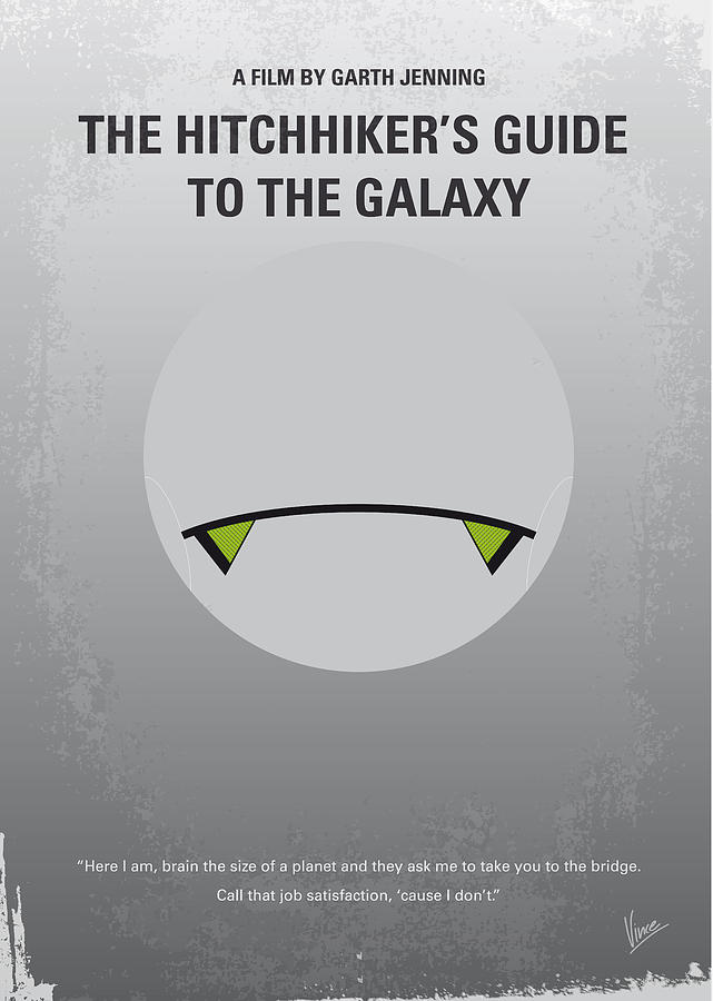 The Digital Art - No035 My Hitchhiker Guide Minimal Movie Poster by Chungkong Art