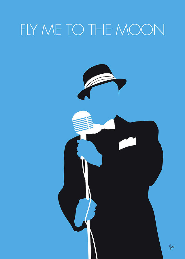 Sinatra Digital Art - No059 MY SINATRA Minimal Music poster by Chungkong Art