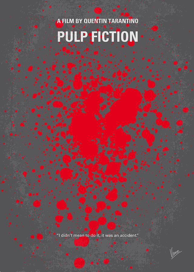 Pulp Digital Art - No067 My Pulp Fiction minimal movie poster by Chungkong Art