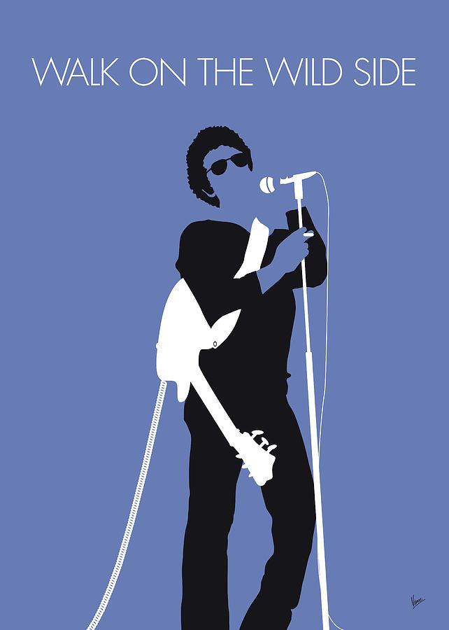 Lou Digital Art - No068 My Lou Reed Minimal Music Poster by Chungkong Art