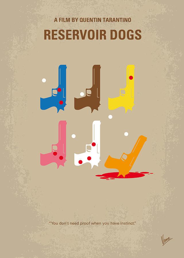 Reservoir Digital Art - No069 My Reservoir Dogs minimal movie poster by Chungkong Art