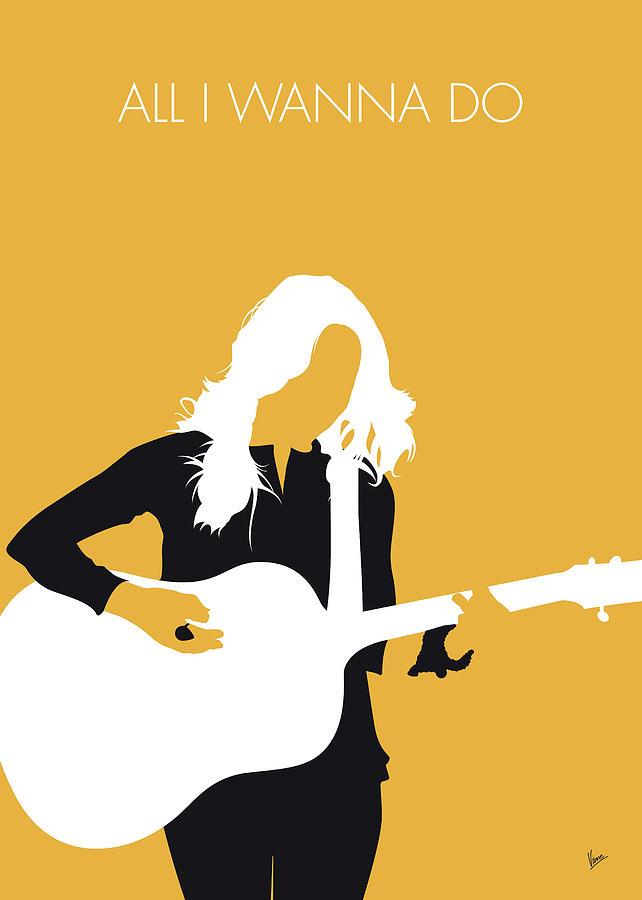 No074 My Sheryl Crow Minimal Music Poster Digital Art by Chungkong Art