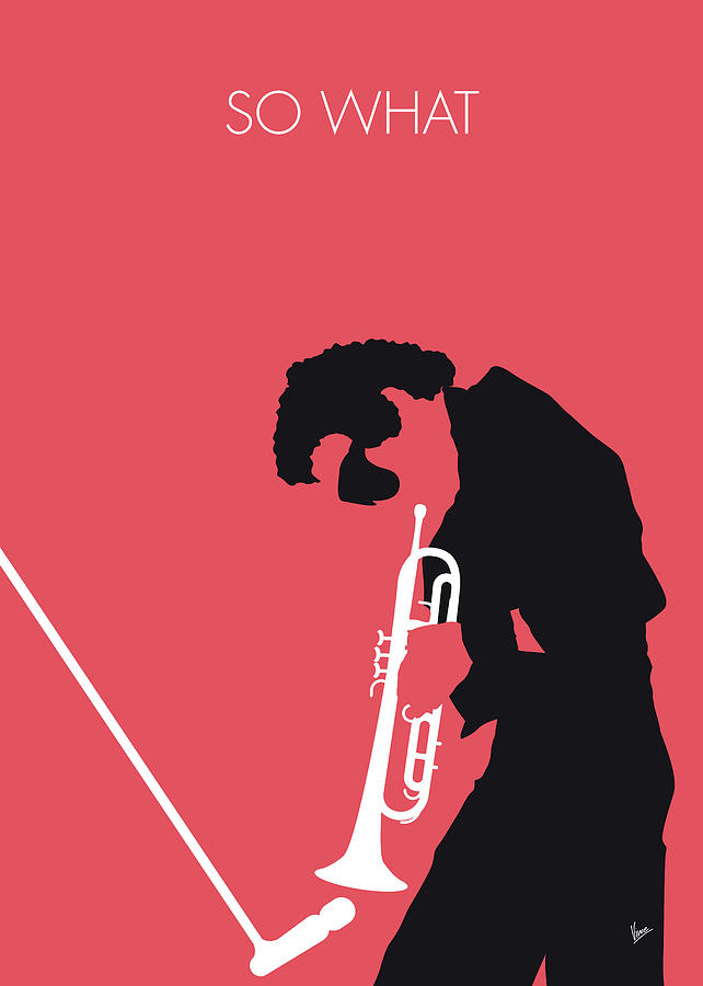 No082 my miles davis minimal music poster digital art by for Music minimal art