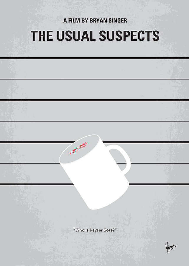 Usual Digital Art - No095 My The Usual Suspects Minimal Movie Poster by Chungkong Art