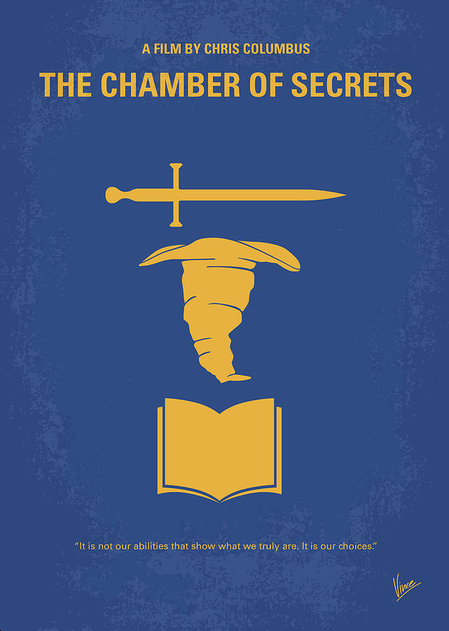 Chamber Digital Art - No101-2 My Hp - Chamber Of Secrets Minimal Movie Poster by Chungkong Art